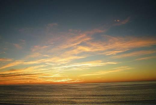 Fiery Sunset by Marian Jenkins