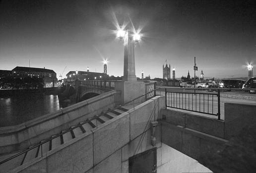 David French - Lambeth Bridge Thames London