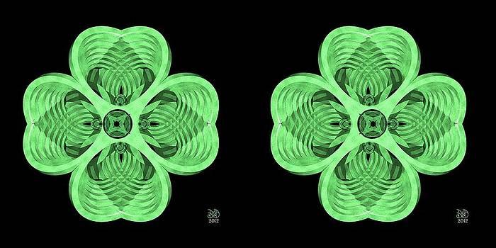 4 Leaf Clover - Stereogram by David Voutsinas