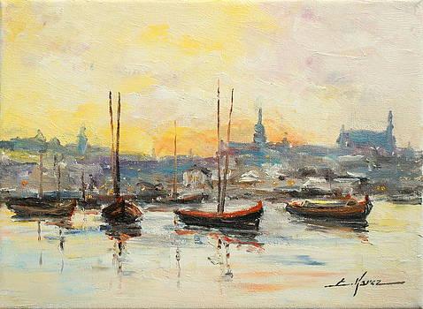 Old Warsaw - Wisla river by Luke Karcz