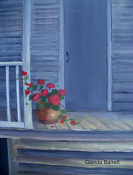 Porch Flowers by Glenda Barrett