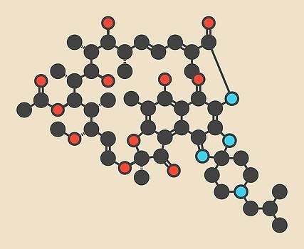 Rifabutin Tuberculosis Drug Molecule by Molekuul