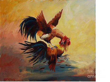 Rooster's Fight by Jean Pierre Bergoeing