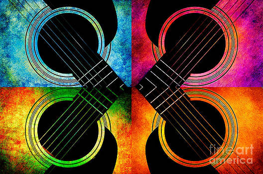 4 Seasons Guitars Abstract by Andee Design