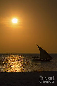 Sunset in Zanzibar - Kendwa Beach by Pier Giorgio Mariani