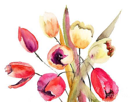 Tulips flowers by Regina Jershova