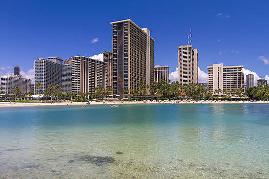 Waikiki Beach Hotels Condominiums Honolulu Hawaii by Jianghui Zhang
