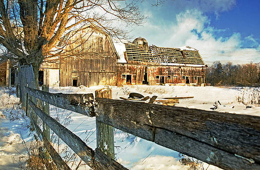 Winter Barn by Cheryl Cencich