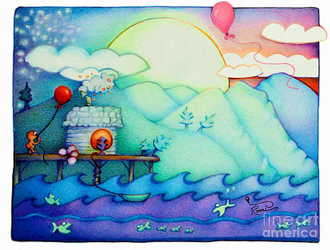 Woobies Character Baby Art Colorful Whimsical Design by Romi Neilson by Megan Duncanson
