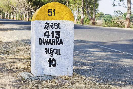 Kantilal Patel - 413 kilometers to Dwarka milestone