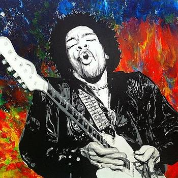 48 Jimmy Hendrix Painting I'll Be by Ocean Clark