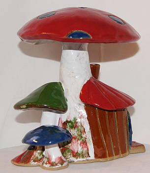 4th of July Mushroom House by Susan Perry