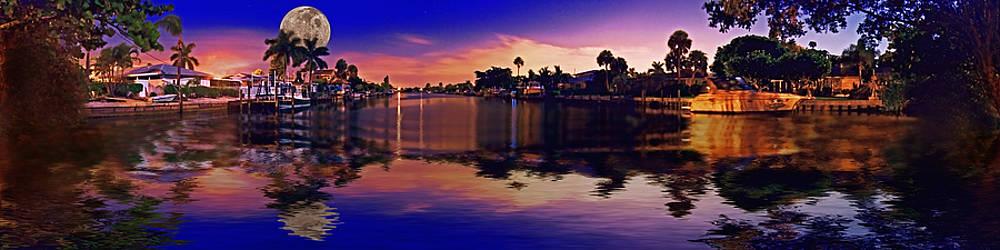 Rolf Bertram - 4X1 Holmes Beach Canal Moon Night