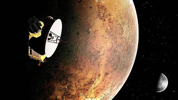 Artwork Of New Horizons Mission by Mark Garlick
