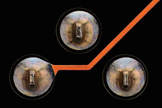 Circuit Board Tin Contacts by Antonio Romero
