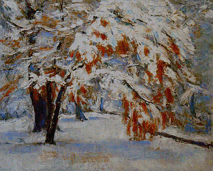 Snow-ladened Fall by Chisho Maas