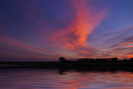 David French - Stanpit Christchurch Dorset sunset