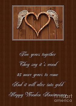 JH Designs - 5 Year Wooden Heart Anniversary