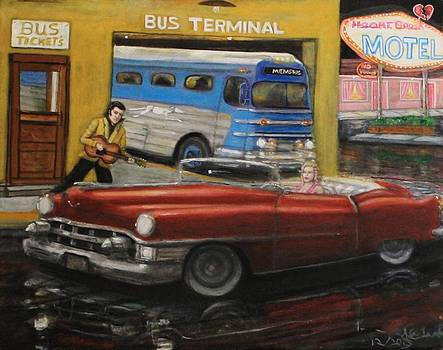 Larry E Lamb - 50s Bus Stop sold prints avail