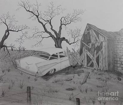57 Chevy Barn by Dennis Wagner