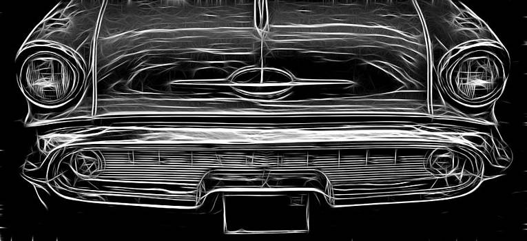 Wes and Dotty Weber - 57 Olds Black And White