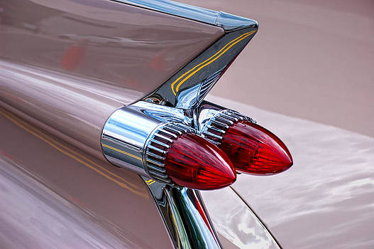 '59 Pink Eldorado Fin by Heather Lee