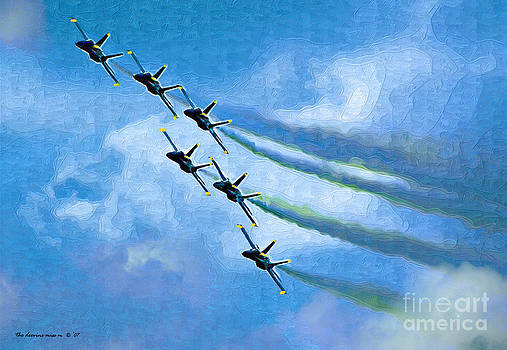 6 Blue Angels oil painting by Margie Middleton