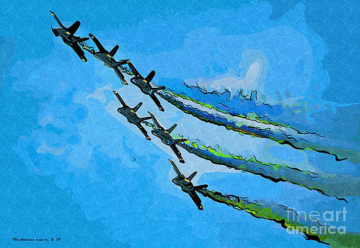 6 Blue Angels by Margie Middleton