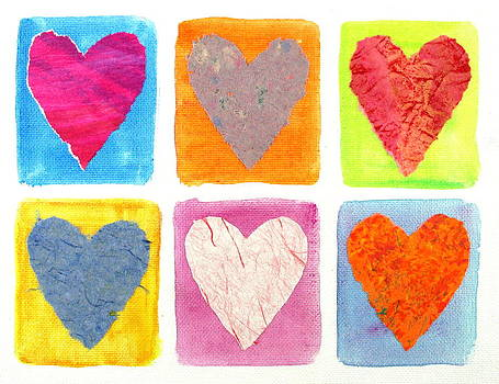 6 Hearts Collage by Bob Baker