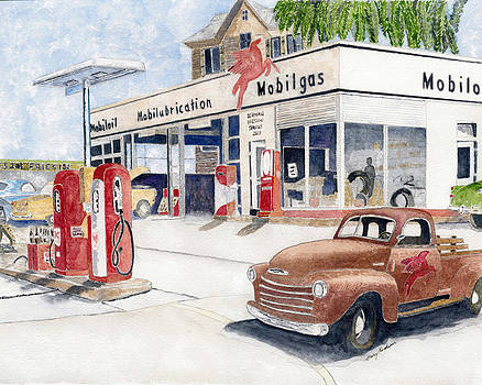 60's Mibile Gas by Gary Roderer