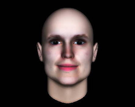 3D Human Face  by Museum Quality Prints -  Trademark Art Designs