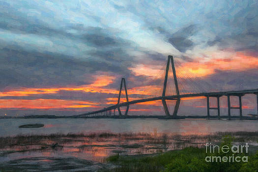 Dale Powell - Arthur Ravenel Bridge Murky Sunset