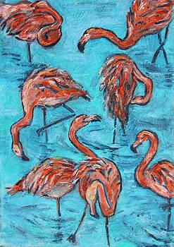 7 Flamingos by Xueling Zou