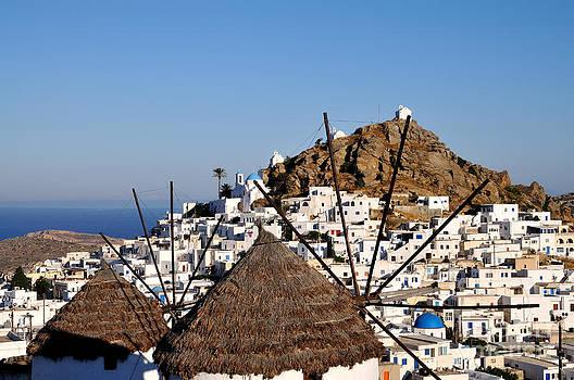 George Atsametakis - Ios town and windmills