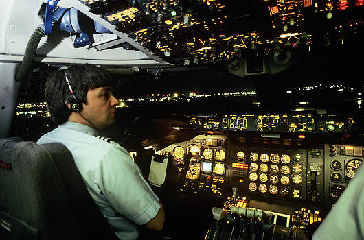 747 Commercial Airplane Crew Captain by Vintage Images