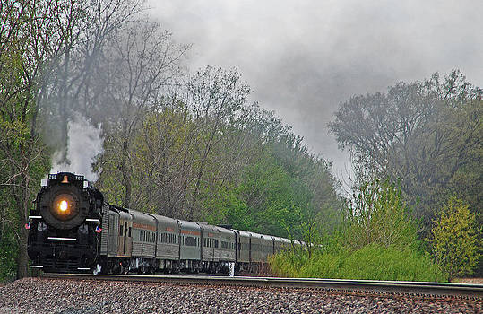 Nickel Plate 2-8-4 steam engine #765 by Vonnie Murfin