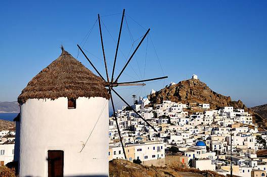 George Atsametakis - Ios town and windmill