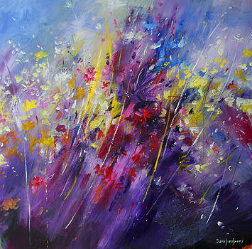 Abstract Flowers by Mario Zampedroni