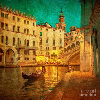 Vintage image of Grand Canal Venice by Konstantin Kalishko