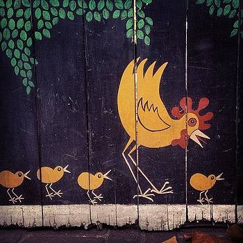 Chickens in the Driveway Mural by Melissa DuBow