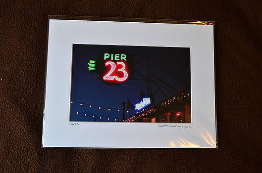 9x12 Matted - Pier23 by Becky Anders