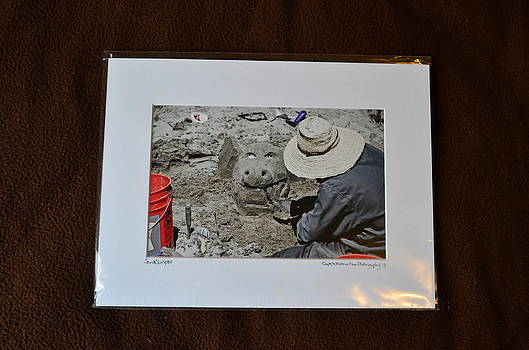 9x12 Matted - Sand Sculptor by Becky Anders