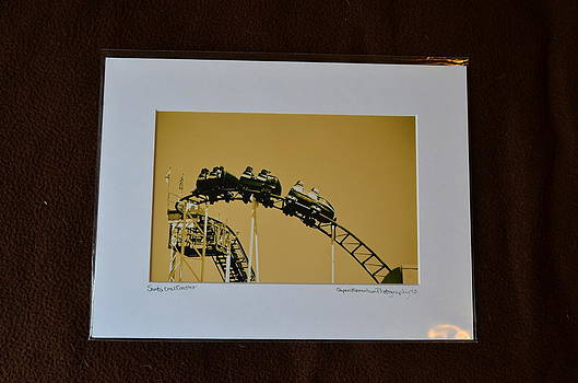 9x12 Matted - Santa Cruz Coaster by Becky Anders