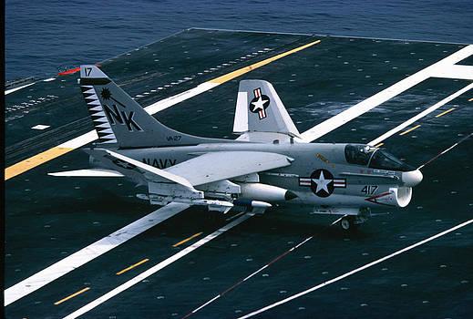 A-7 Corsair II -  U.S.S. Enterprise - 1976 by George Landers