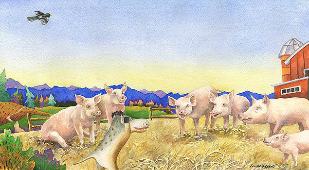 Anne Gifford - A Barnyard of Pigs