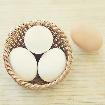 A Basket of Eggs by Whimsy Canvas