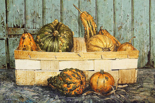 A basket of Gourds by David Lyons