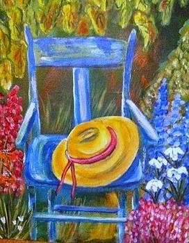 A blue Chair by Belinda Lawson