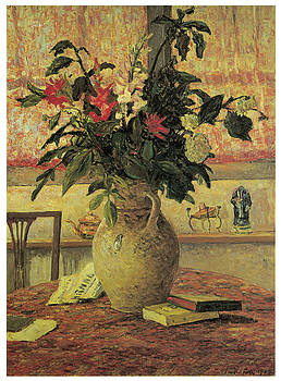 Maxime Maufra - A Bouquet of Flowers in Front of a Window