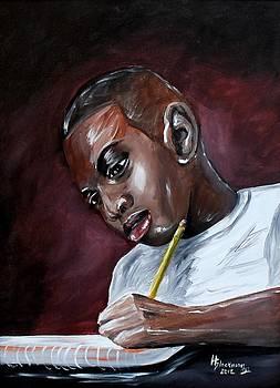 A Boy Studies by Henry Blackmon